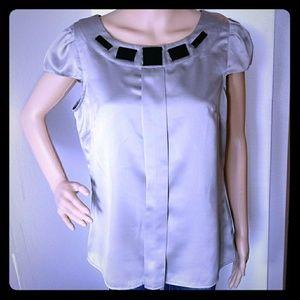 Worthington Gray Top short Sleeve Size L
